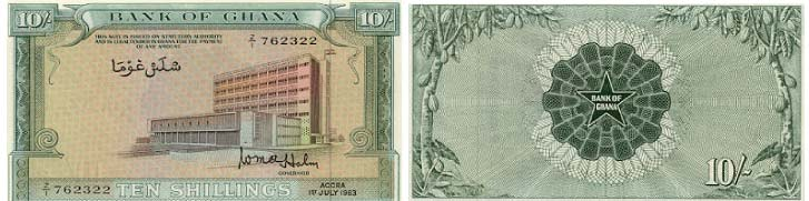 Ten Shillings - Bank of Ghana